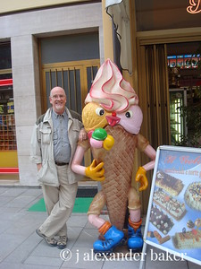 me and my best friend in Italy, Mr. Gelato.