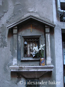 St. Fanta, patron saint of soda pop. Venice, 2007