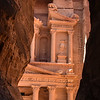 "Al Khazneh (""The Treasury"") is one of the most elaborate temples in the ancient Arab Nabatean Kingdom city of Petra."
