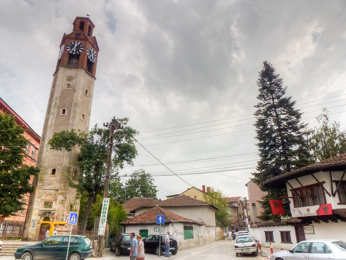 kosovo clock tower pristina