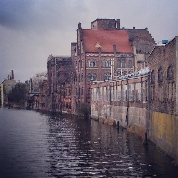 Szczecin Waterfront along Oder River - Poland