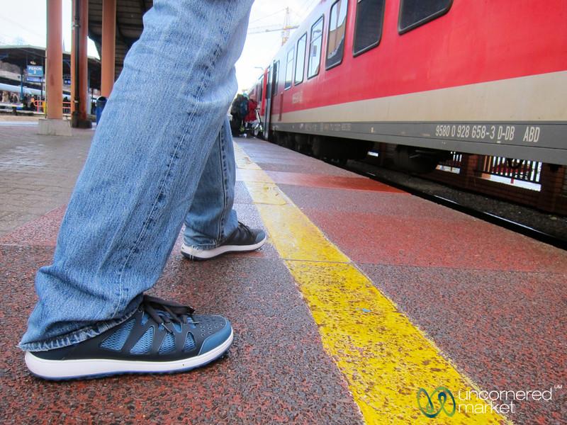 Waiting for the Train in Szczecin, Poland