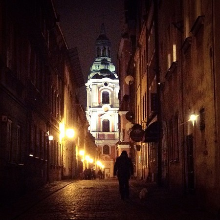 Old Town Poznan at night, Poland