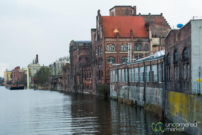 Szczecin Along the Oder River, Poland