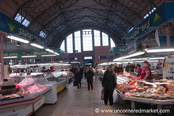 Fish Hall at Riga's Central Market - Riga, Latvia