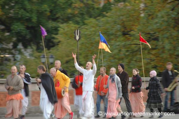 Hare Krishna Followers - Riga, Latvia