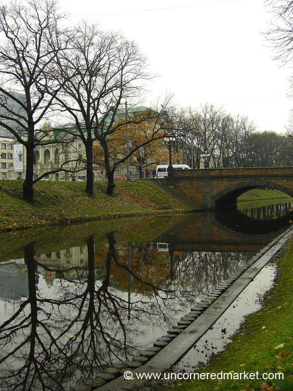 Reflections in Pilsētas Canal - Riga, Latvia
