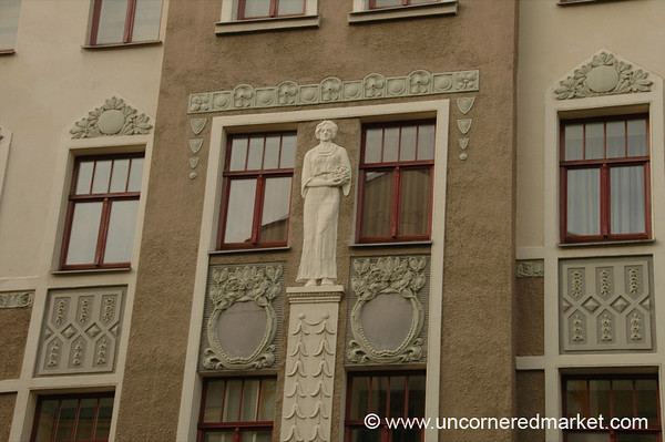 Art Nouveau Building Accents - Riga, Latvia