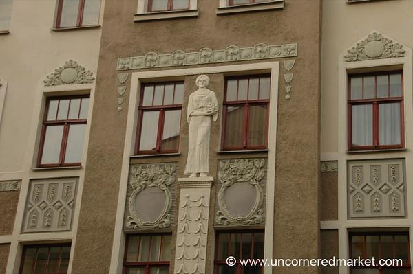 Art Nouveau Building Accents - Riga, Latvia