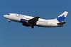 "YL-BBE Boeing 737-53S c/n 29073 Amsterdam/EHAM/AMS 22-04-05 ""Blue Dancer"" (35mm slide)"