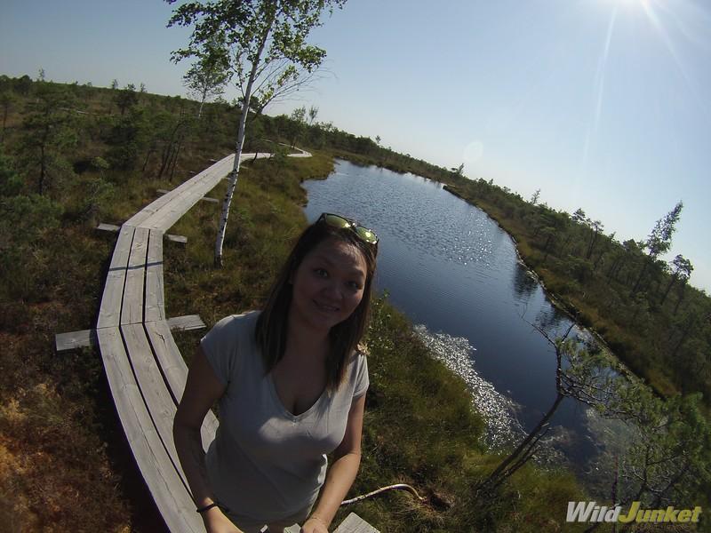 Me on the Kemeri raised bog footbridge - kemeri national park