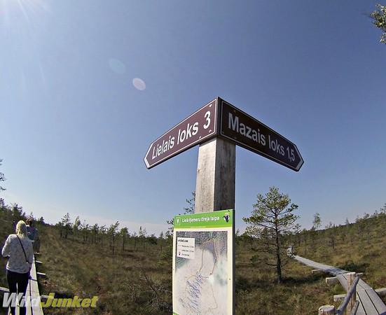 Signboards in kemeri national park hiking biking