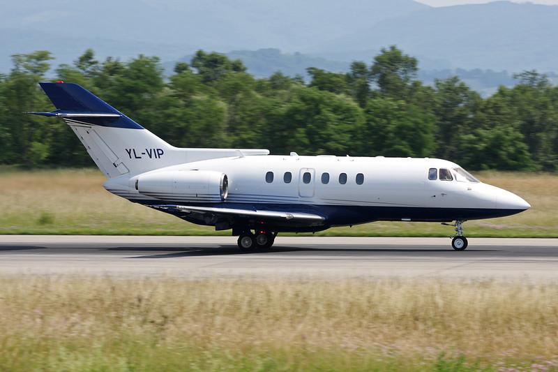 YL-VIP British Aerospace 125-800B c/n 258078 Basle-Mulhouse/LFSB/BSL 22-06-08