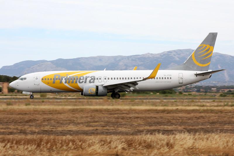 "YL-PSD Boeing 737-86N ""Primera Air Nordic"" c/n 28618 Palma/LEPA/PMI 16-06-16"