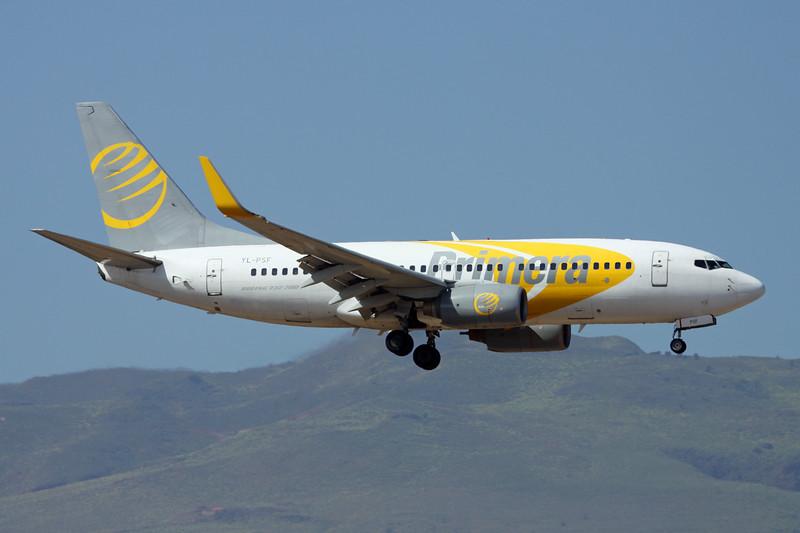 """YL-PSF Boeing 737-7Q8 """"Primera Air Nordic"""" c/n 28210 Las Palmas/GCLP/LPA 05-02-16"""