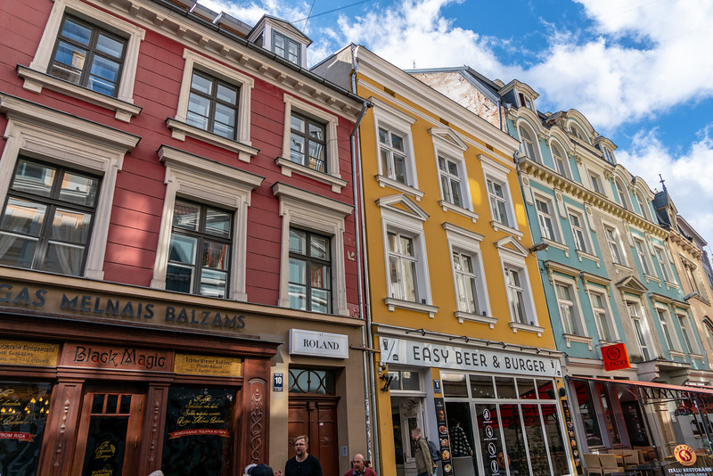 Storefronts in Riga