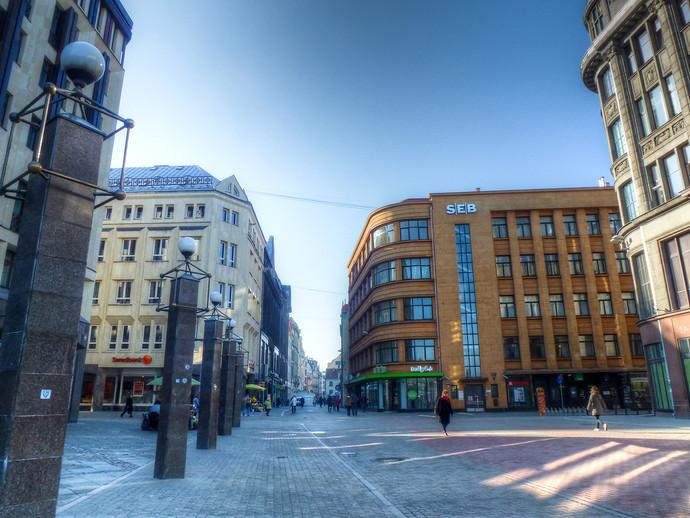 riga latvia downtown