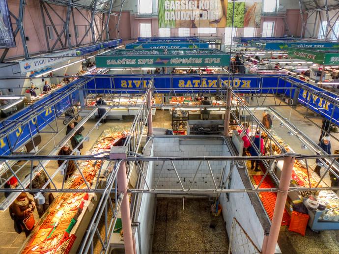 riga latvia central market