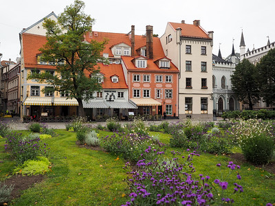 Livu Square in Riga, Latvia