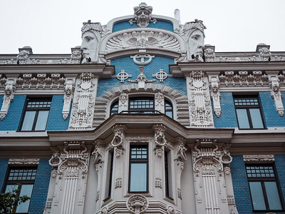 Art nouveau building in Riga