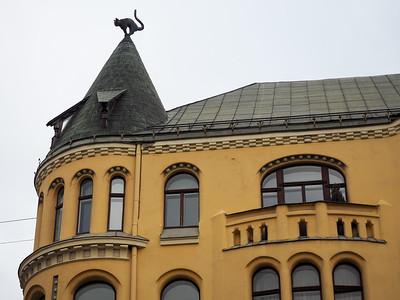 Cat House in Riga, Latvia