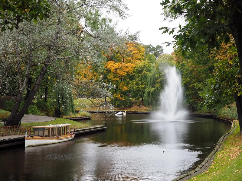 Canal in Riga, Latvia