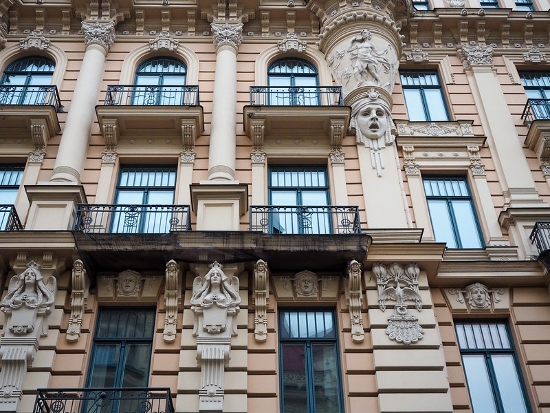 Art nouveau architecture in Riga, Latvia