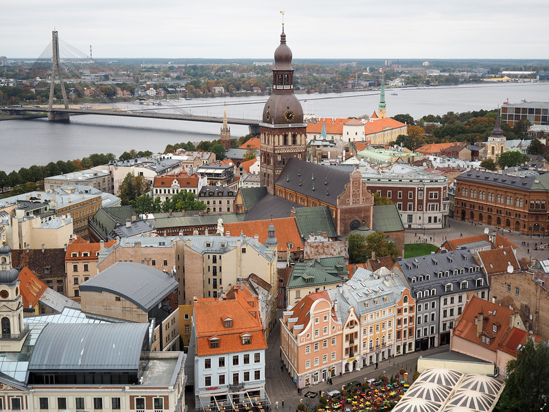 Riga Old Town from St. Peter's Church bell tower