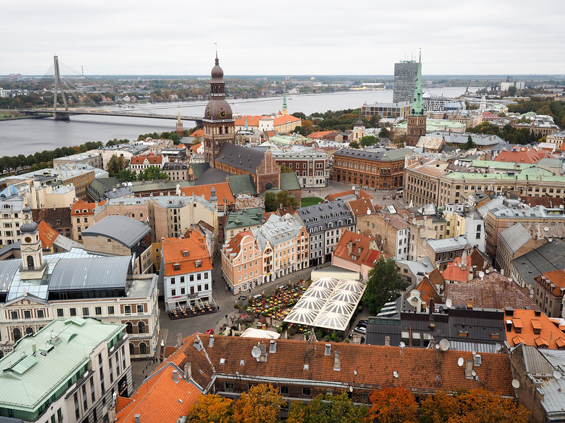 Riga Old Town from St. Peter's Church