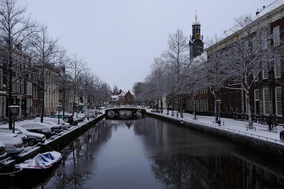 Rapenburg in the snow
