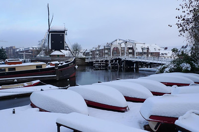 A Leiden canal in the winter
