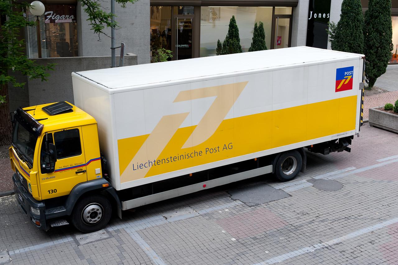 Post office truck in Liechtenstein