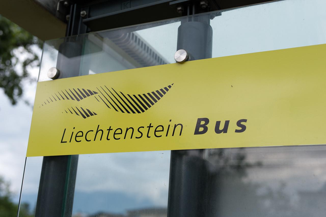 The Liechtenstein Bus sign