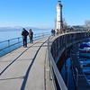 A walk along the Lindau Harbour breakwater