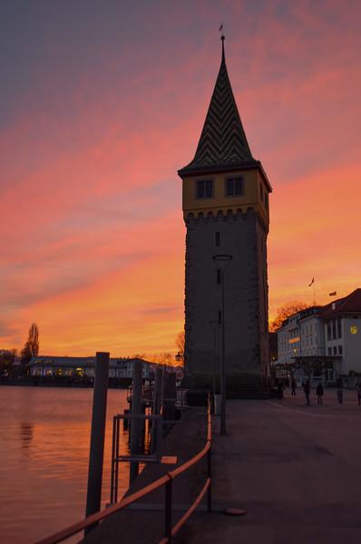 Sunset over the Mangturm