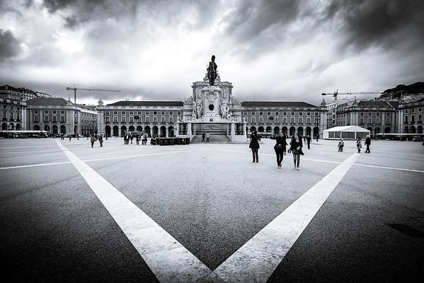 Praça do Comércio Black & White