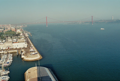 Lisbonne - Belém - Le Tage et le pont du 25 Avril