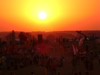 Sunset at b2gether Music Festival - Lithuania