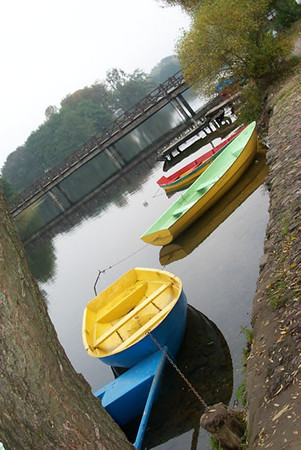 Boats on Lake Galve - Trakai, Lithuania