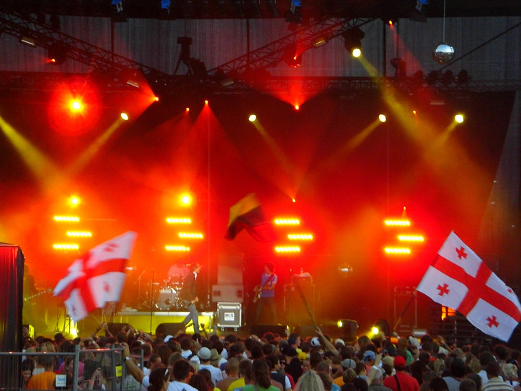Georgian Flags at b2gether Music Festival - Lithuania
