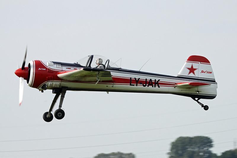 LY-JAK Yakovlev Yak-55M c/n 930705 Namur/EBNM 03-09-17