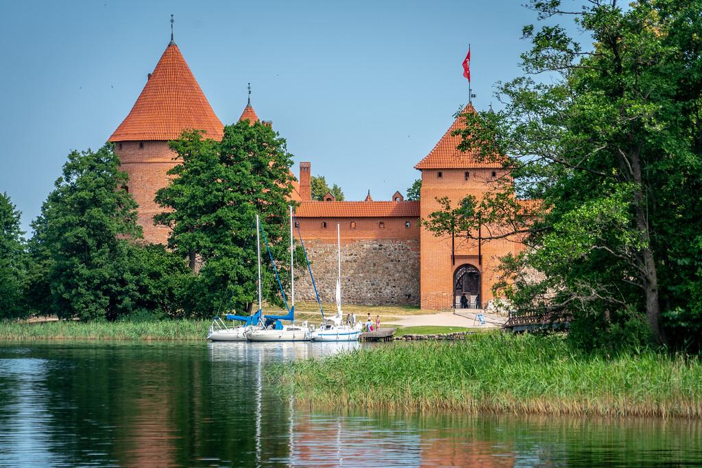 Exterior of Trakai Island Castle