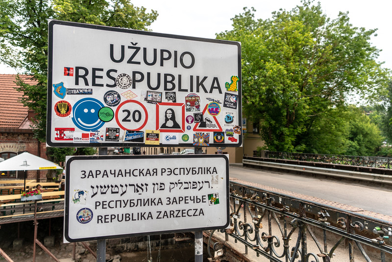 Now entering the Republic of Užupis