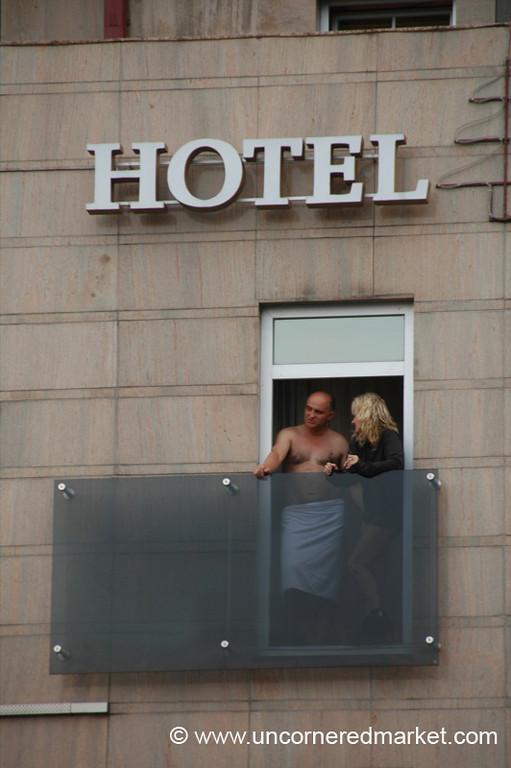 Hotel Window Love Affair - Vilnius, Lithuania