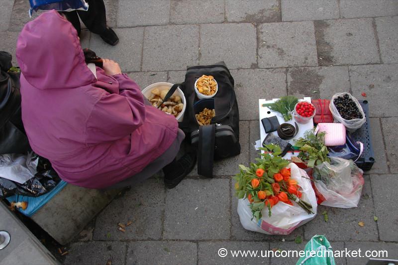 Street Vendor, Hales Market - Vilnius, Lithuania
