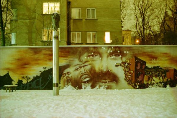 Frank Zappa Wall - Vilnius, Lithuania