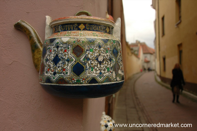 Tea Pot in Old Town Vilnius, Lithuania