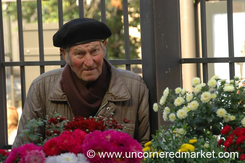 Flower Vendor, Hales Market - Vilnius, Lithuania