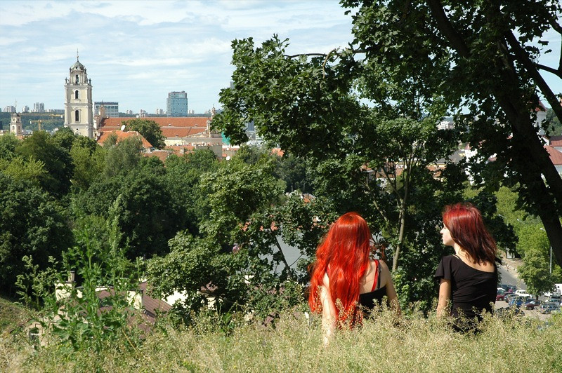 Friends Admiring the View - Vilnius, Lithuania