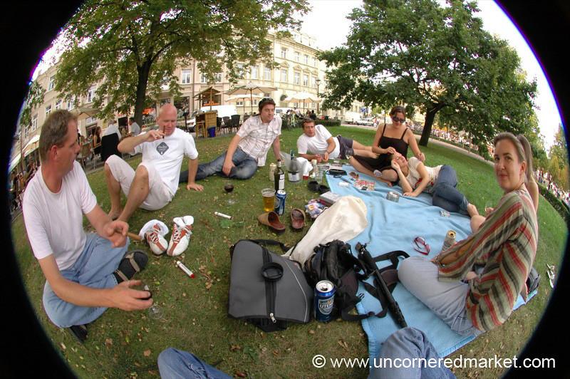 Vilnius Picnic with Friends - Lithuania